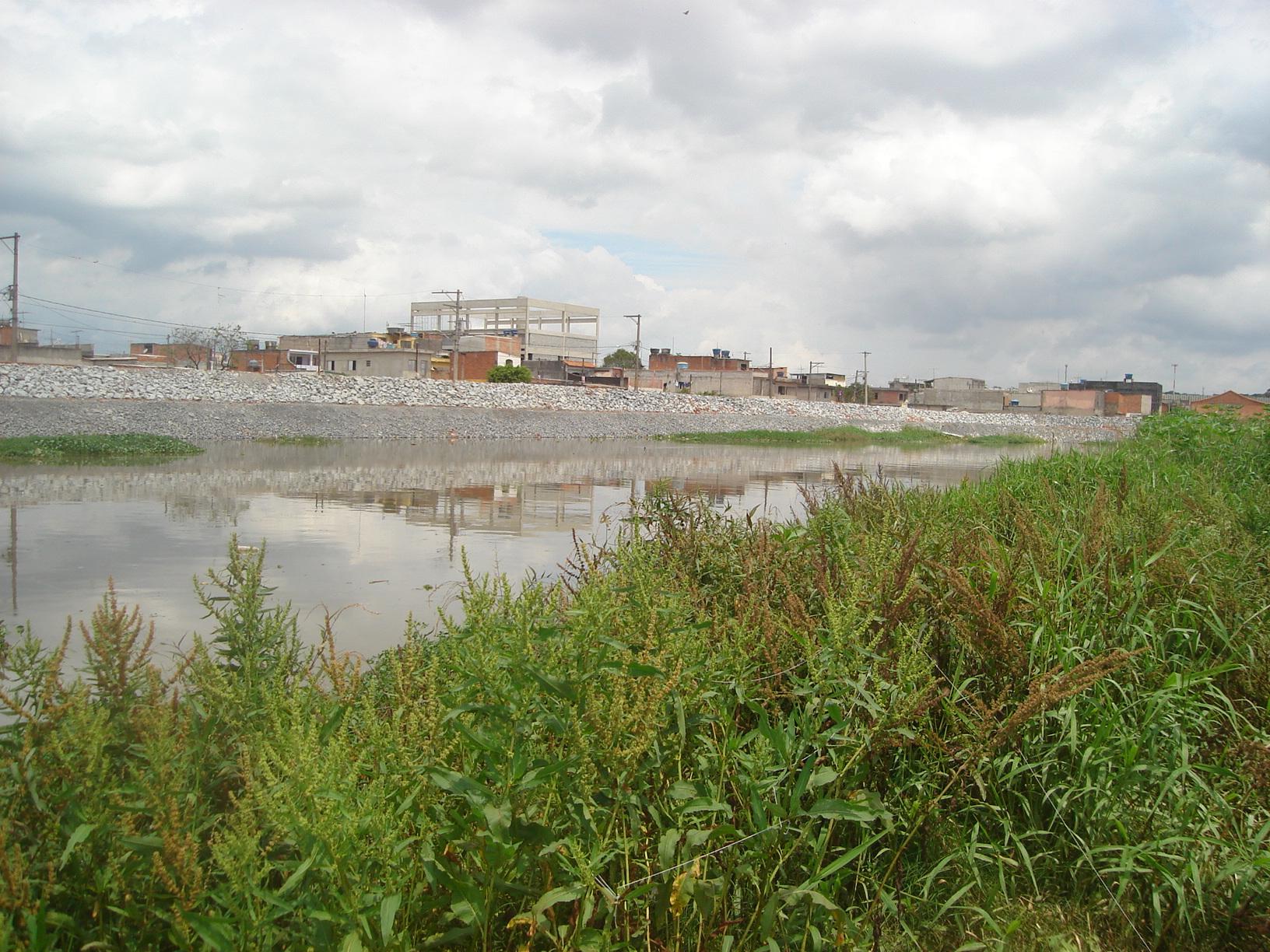Rio Tietê na região da Vila Izildinha
