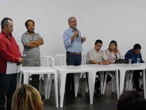 Prof. Rômulo e Prefeito Almeida na paletra sobre dependência química
